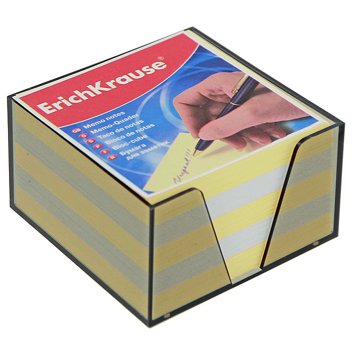 Бумага для заметок Erich Krause, в боксе, цвет: жетлый, белый, 9,5 см x 9,5 см x 5 см2720Бумага для заметок Erich Krause в боксе - незаменимая вещь, которая помогает организовать пространство на вашем рабочем столе. Лаконичный дизайн и удобство в использовании сделают бумагу для заметок вашим надежным помощником.Для удобства хранения бумаги предусмотрен прозрачный пластиковый бокс, благодаря которому листы не растеряются и сохранят аккуратный вид на всем протяжении использования.Блок содержит бумагу двух цветов: желтого и белого. Характеристики:Материал: бумага, пластик. Размер листа: 9 см x 9 см. Размер блока: 9 см x 9 см x 5 см. Размер бокса: 9,5 см x 9,5 см x 5 см.