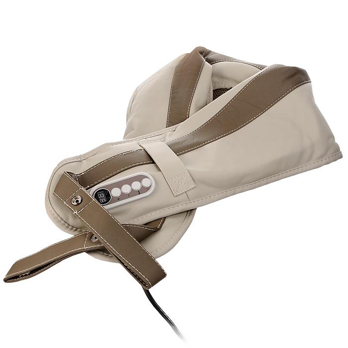 Накидка массажная Bradex Здоровая спинаKZ 0096Постукивания механизма массажной накидки Bradex Здоровая спина способствуют снятию боли и напряжения в области плеч и спины, улучшают кровообращение, оказывают релаксирующее воздействие. Система массажной накидки имеет один автоматический и 15 ручных режимов массажа, которым присущи соответствующие функции и ритм. Кроме того, предполагается 9 уровней силы постукивания, что позволяет регулировать процесс массажа. Панель управления накидки Bradex Здоровая спина легка в эксплуатации, автоматический режим рассчитан на 10 минут во избежание перегревания устройства и чрезмерной нагрузки на организм.В комплекте с накидкой предусмотрена подробная иллюстрированная инструкция на русском языке. Характеристики: Материал: ПВХ, пластик, текстиль. Размер рабочей поверхности:38 см x 18 см. Общий размер накидки:116 см x 19 см x 3 см. Размер упаковки:42 см x 23 см x 12 см. Производитель:Китай. Артикул:KZ 0096. Накидка работает от сети 220В.