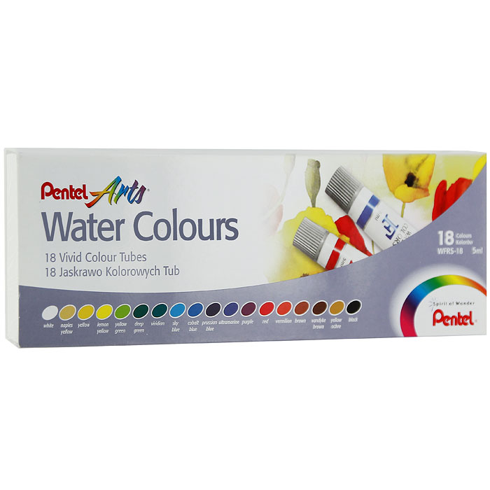 Pentel Акварель Water Colours 18 цветов