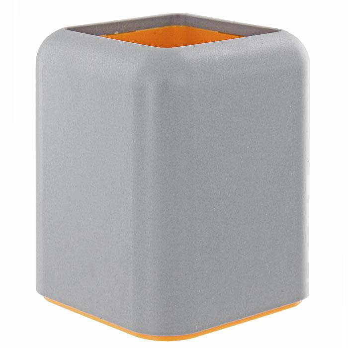 Подставка для пишущих принадлежностей Forte, цвет: серый20153Оригинальная форма подставки в сочетании с фирменных дизайном коллекции Forte обеспечат не только отлично организованное рабочее пространство, но и придадут Вашему столу элегантный вид. Характеристики:Размер: 8,5 см х 8,5 см х 10,5 см. Изготовитель: Россия.