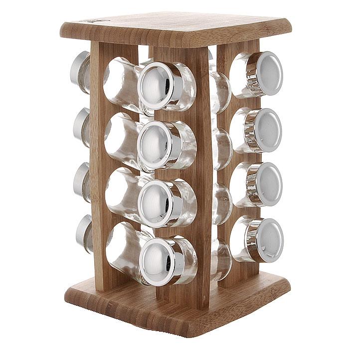 Полка для специй Oriental Way, 16 банок BS4016RBS4016RПолка для специй Oriental Way изготовлена из высококачественной древесины бамбука. Полка оснащена вращающимся основанием и включает в себя 4 вертикальные полки с 4 отсеками под банки в каждой. Банки для специй имеют надежно завинчивающиеся крышки и перфорированные накладки, позволяющие удобно приправлять блюда специями, не опасаясь рассыпать их. Большинство специй обладает достаточно сильными ароматами, поэтому хранить специи рекомендуется в плотно закрытых, изолированных друг от друга емкостях, чтобы запахи не смешивались между собой. Особенности полки для специй Oriental Way:- сделана из природного материала; - гармонирует с любым интерьером; - долгий срок службы; - не впитывает влагу; - не впитывает запахи; - нельзя мыть в посудомоечной машине. Характеристики:Материал: бамбук, стекло, пластик. Размер полки: 29,5 см х 17 см х 17 см. Размер банки: 10 см х 4 см х 4 см. Количество банок: 16 шт. Размер упаковки: 30,5 см х 18,5 см х 18,5 см. Артикул: BS4016R.