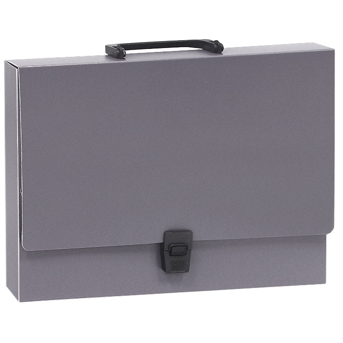 Папка-портфель Erich Krause Attache, цвет: серый, формат А4 папка уголок erich krause 180 мкм голубая упаковка 10 шт