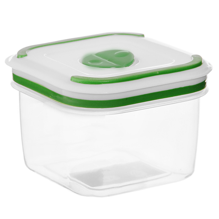 """Квадратный контейнер для СВЧ NeoWay """"Simple control"""" выполнен из сочетания твердого и мягкого пластика, абсолютно безопасного для использования с пищевыми продуктами. Контейнер имеет инновационную крышку, обеспечивающую абсолютную герметичность и водонепроницаемость, не пропускает влагу и запахи, долго сохраняет свежесть продуктов. На крышке есть клапан для выпуска пара и антискользящие вставки для устойчивого вертикального хранения.  Контейнер подойдет не только для разогревания продуктов в печи СВЧ, но и для хранения продуктов, в том числе в холодильной и морозильной камерах. Контейнер выдерживает температуру в диапазоне от -20°C до +120°, его можно мыть в посудомоечной машине и нельзя греть пустым и в режиме """"гриль"""". Характеристики:  Материал: полипропилен. Объем контейнера: 0,36 л. Размер контейнера: 9 см х 9 см. Высота контейнера (без учета крышки): 6,5 см. Производитель: Китай. Артикул: GL9005."""