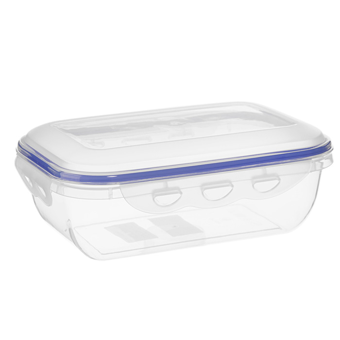 """Прямоугольный контейнер для СВЧ NeoWay """"Enjoy"""", выполненный из высококачественного пластика, это удобная и легкая тара для хранения и транспортировки бутербродов, порционных салатов, мяса или рыбы, горячих и холодных блюд, даже жидких продуктов. Контейнер 100% герметичен. Крышка оснащена четырьмя специальными защелками и силиконовым уплотнителем. Клипсы (защелки) позволяют произвести защелкивание более чем 400000 раз. Пустотелый силиконовый уплотнитель имеет большую гибкость и лучшее прилегание. Контейнеры могут быть вставлены один в другой, что позволяет сэкономить много пространства.  Контейнер для СВЧ NeoWay """"Enjoy"""" выдерживает температуру в диапазоне от -20°C до +120°C, его можно мыть в посудомоечной машине и нельзя нагревать пустым.   Характеристики:  Материал: пластик. Объем контейнера: 1,3 л. Размер контейнера: 21,5 см х 14 см. Высота контейнера (без учета крышки): 6,5 см. Производитель: Китай. Артикул: CP1022A."""