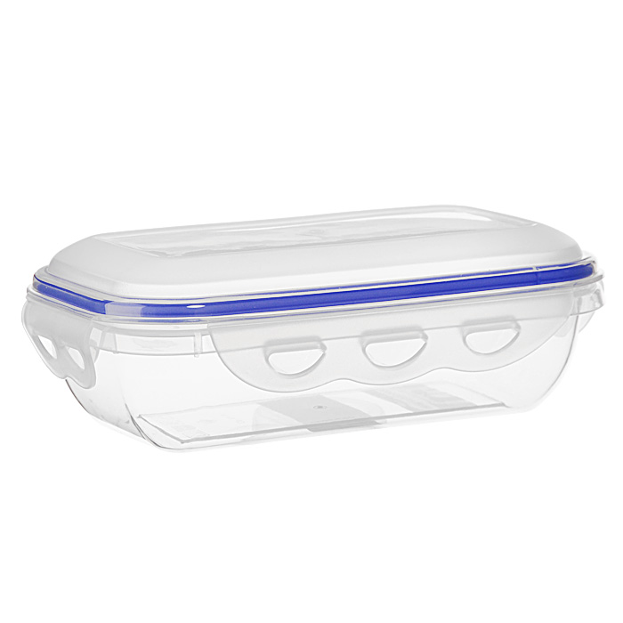 Контейнер для СВЧ NeoWay Enjoy прямоугольный, 0,58 лCP1021AПрямоугольный контейнер для СВЧ NeoWay Enjoy, выполненный из высококачественного пластика, это удобная и легкая тара для хранения и транспортировки бутербродов, порционных салатов, мяса или рыбы, горячих и холодных блюд, даже жидких продуктов. Контейнер 100% герметичен. Крышка оснащена четырьмя специальными защелками и силиконовым уплотнителем. Клипсы (защелки) позволяют произвести защелкивание более чем 400000 раз. Пустотелый силиконовый уплотнитель имеет большую гибкость и лучшее прилегание. Контейнеры могут быть вставлены один в другой, что позволяет сэкономить много пространства. Контейнер для СВЧ NeoWay Enjoy выдерживает температуру в диапазоне от -20°C до +120°C, его можно мыть в посудомоечной машине и нельзя нагревать пустым. Характеристики:Материал: пластик. Объем контейнера: 0,58 л. Размер контейнера: 18,5 см х 11 см. Высота контейнера (без учета крышки): 4,6 см. Производитель: Китай. Артикул: CP1021A.
