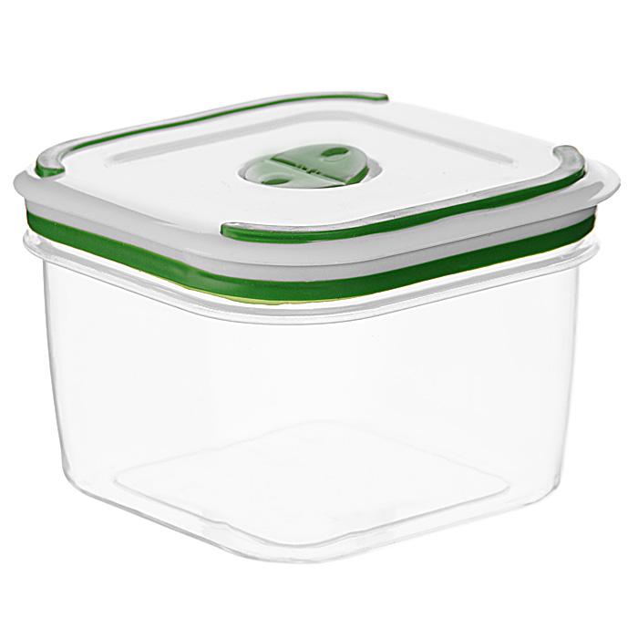 """Квадратный контейнер для СВЧ NeoWay """"Simple control"""" выполнен из сочетания твердого и мягкого пластика, абсолютно безопасного для использования с пищевыми продуктами. Контейнер имеет инновационную крышку, обеспечивающую абсолютную герметичность и водонепроницаемость, не пропускает влагу и запахи, долго сохраняет свежесть продуктов. На крышке есть клапан для выпуска пара и антискользящие вставки для устойчивого вертикального хранения.  Контейнер подойдет не только для разогревания продуктов в печи СВЧ, но и для хранения продуктов, в том числе в холодильной и морозильной камерах. Контейнер выдерживает температуру в диапазоне от -20°C до +120°, его можно мыть в посудомоечной машине и нельзя греть пустым и в режиме """"гриль"""". Характеристики:  Материал: полипропилен. Объем контейнера: 2,6 л. Размер контейнера: 17 см х 17 см. Высота контейнера (без учета крышки): 11,7 см. Производитель: Китай. Артикул: GL9001."""