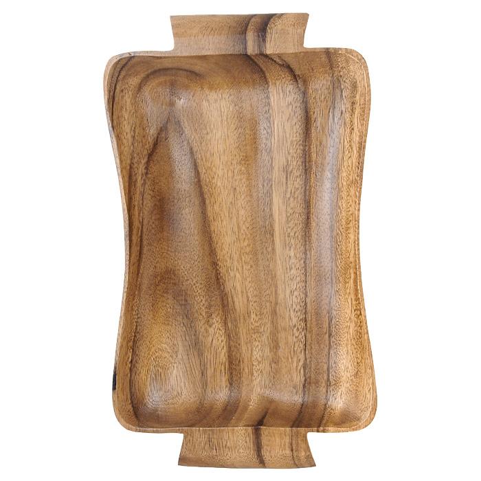Поднос Oriental Way Oriental way Ретро 38 х 22см WD-40911WD-40911Поднос Oriental Way Ретро выполнен из высококачественного дерева и оснащен удобными ручками. Он покрыт пищевым лаком, совершенно нетоксичным и безвредным для здоровья, который препятствует впитыванию влаги в изделие, тем самым продлевает срок его службы. Выбирая для дома посуду из дерева, вы получаете не только безопасность и уют натуральных материалов, но и высокое качество изделий. Оригинальный дизайн подноса Oriental Way Ретро придется по вкусу и ценителям классики, и тем, кто предпочитает утонченность и изысканность. Такой поднос можно использовать не только для переноски блюд, но и для сервировки стола.Особенности подноса Oriental Way:- сделан из природного материала; - гармонирует с любым интерьером; - долгий срок службы; - не впитывает влагу; - не впитывает запахи; - нельзя мыть в посудомоечной машине. Характеристики:Материал: дерево. Размер подноса (с учетом ручек): 38 см х 22 см х 2,5 см. Производитель: Филиппины. Артикул: WD-40911.