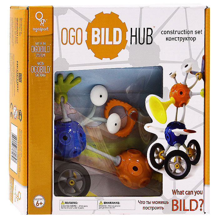 Конструктор OgoBild Hub, 63 элемента конструктор ogobild bits hitch 20 элементов