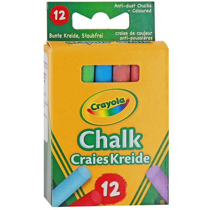 Мелки Crayola, неосыпающиеся, 12 цветов0281Цветные мелки широко используются для проведения занятий в детских садах и школах. Круглая форма позволяет чертить и рисовать без напряжения руки. Мелки легко и мягко пишут, не крошатся, и, благодаря пониженному выделению пыли не пачкают одежду и руки малышей. Яркие цвета обеспечивают лучшую читаемость и наглядность. Мелки изготовлены из экологически безопасных материалов и не вызывают аллергических реакций. Цветные мелки помогают малышам развить мелкую моторику рук, наглядно-образное мышление, координацию движений, творческое мышление, фантазию, а также знакомят их с понятиями цвета и формы. Набор включает мелки 12 ярких цветов и оттенков. Характеристики:Длина мелка: 8 см. Диаметр мелка: 1 см. Размер упаковки:10 см х 6 см х 2 см. Изготовитель: Иордания.