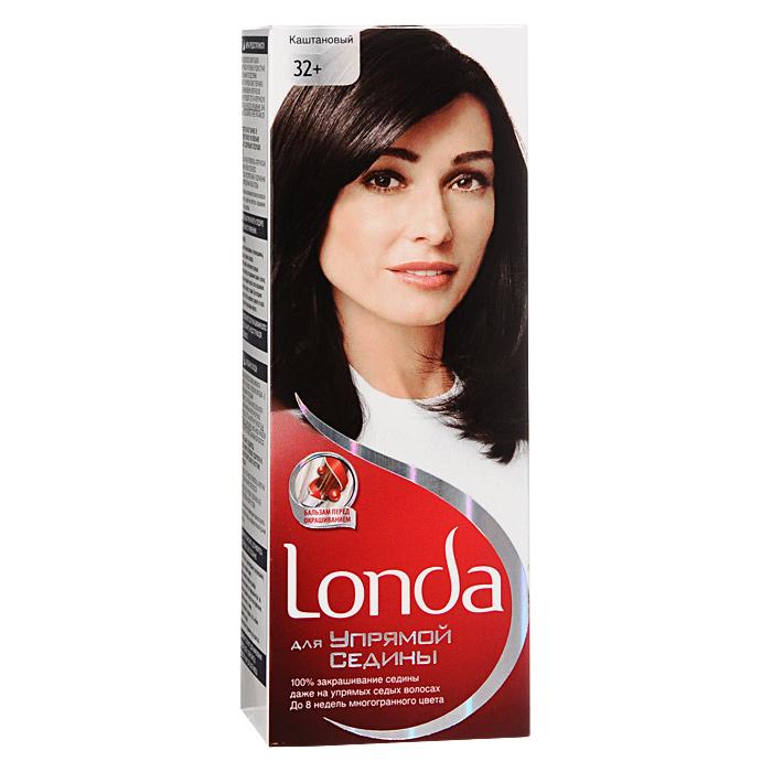 Крем-краска для волос Londa, для упрямой седины, 32+. Каштановый краски для волос londa крем краска для волос стойкая 28 пепельно белокурый