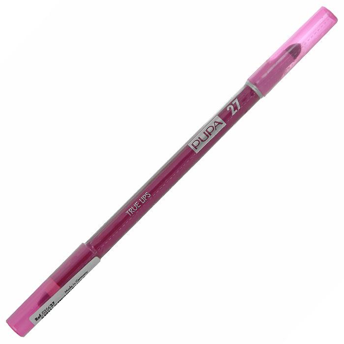 PUPA Карандаш для губ с аппликатором True Lips Pencil, тон 27 фуксия , 1.2 г025627Контурный карандаш для губ Pupa True Lips с аппликатором для тушевки завершает макияж и позволяет достичь необыкновенного результата.Наносит равномерную линию, придающую безупречный контур губам, благодаря своей возможности удерживать помаду. Практичный аппликатор из латекса удобен для растушевки цвета на поверхности губ.Подходит для профессионального использования.Характеристики:Вес: 1,2 г. Тон: №27. Производитель: Италия. Изготовитель: Германия. Артикул: 025627. Товар сертифицирован. Pupa - итальянский бренд, принадлежащий компании Micys. Компания была основана в 1970-х годах в Милане и стала любимым детищем семьи Гатти.Pupa - это декоративная косметика для тех, кто готов экспериментировать, создавать новые образы и менять свой стиль в поисках новых проявлений своей индивидуальности. Яркие цвета Pupa воплощают в себе особенное видение красоты как многогранного сочетания чувственности и эпатажа, нежности и дерзости, изысканности и простоты.Pupa не забывает и о здоровье, прежде всего - здоровье кожи. Составы косметики Pupa тщательно тестируются на безопасность для кожи и постоянно совершенствуются по мере появления новых научных разработок.