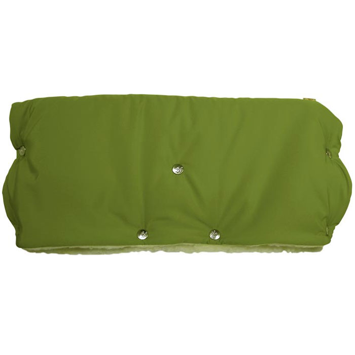 Муфта для рук на коляску Чудо-Чадо, меховая, цвет: светло-зеленый