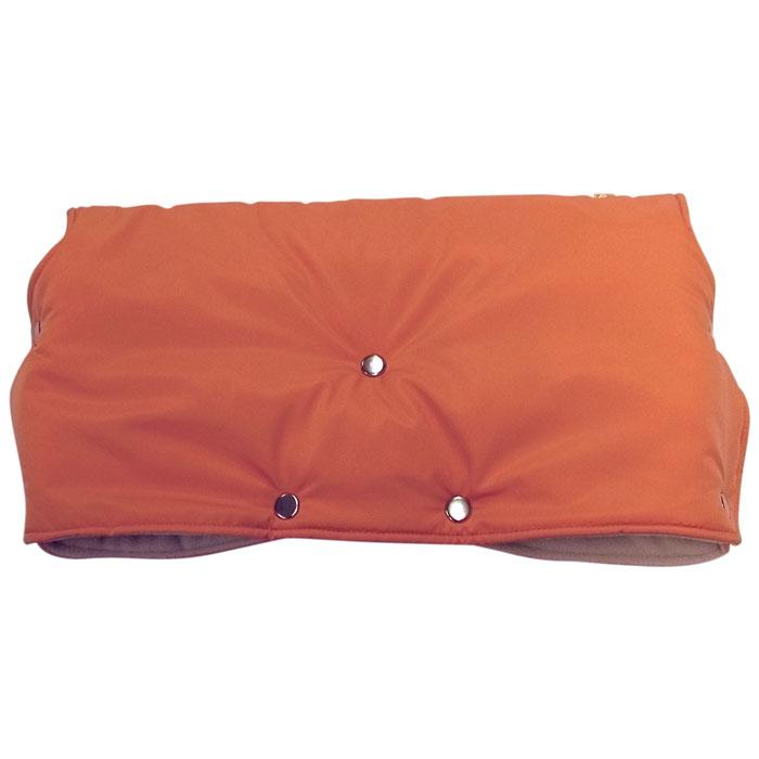 """Муфта для рук на коляску """"Чудо-Чадо"""", флисовая, цвет: оранжевый"""