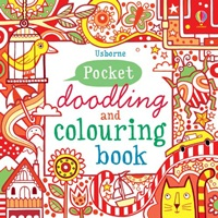 Pocket Doodling and Colouring Book: Red Book pocket doodling and colouring book blue book