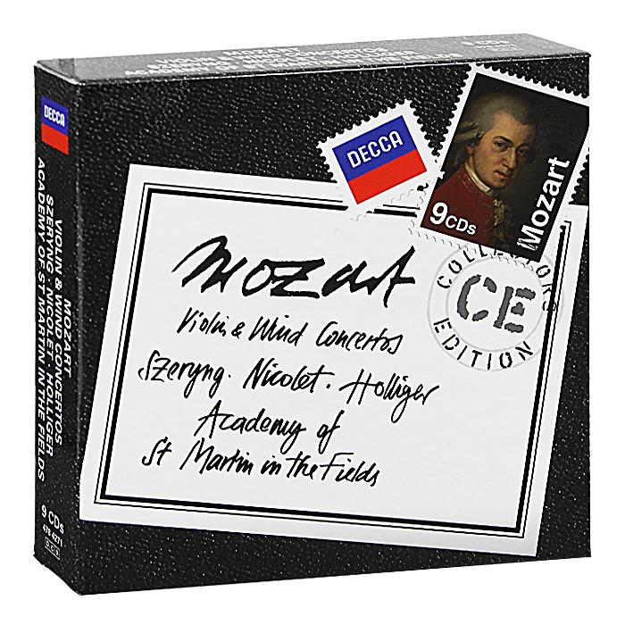 Henryk Szeryng, Aurele Nicolet, Heinz Hollinger. Mozart. Violin & Wind Concertos (9 CD)