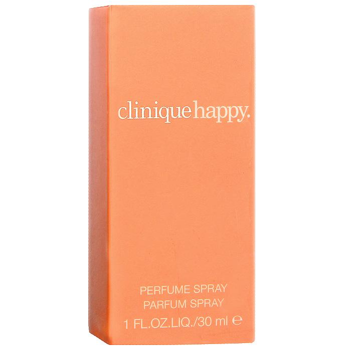 Clinique Happy. Парфюмерная вода, 30 мл62AH010000Clinique Happy - искрящийся цветочный аромат, который пробуждает ощущение полного счастья с уникальной смесью вибрации, ясности и женственной чувственности. То, что вы в первую очередь почувствуете в этом аромате - тонкий намек цитрусовых и богатство разнообразных цветов. Классификация аромата: цветочный.Верхние ноты: Озоновые нотки, яблоко, слива и бергамот.Ноты сердца:Фрезия, орхидея, ландыш и роза.Ноты шлейфа:мускус, янтарь.Ключевые слова:Мягкий, чувственный, яркий! Характеристики:Объем: 30 мл. Производитель: Швейцария. Самый популярный вид парфюмерной продукции на сегодняшний день - парфюмерная вода. Это объясняется оптимальным балансом цены и качества - с одной стороны, достаточно высокая концентрация экстракта (10-20% при 90% спирте), с другой - более доступная, по сравнению с духами, цена. У многих фирм парфюмерная вода - самый высокий по концентрации экстракта вид товара, т.к. далеко не все производители считают нужным (или возможным) выпускать свои ароматы в виде духов. Как правило, парфюмерная вода всегда в спрее-пульверизаторе, что удобно для использования и транспортировки. Так что если духи по какой-либо причине приобрести нельзя, парфюмерная вода, безусловно, - самая лучшая им замена.Товар сертифицирован.