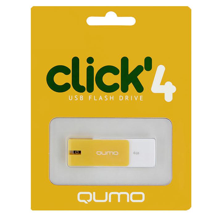 QUMO Click 4GB, AmberQM4GUD-CLK-AmberQUMO Click - это запоминающее устройство, использующее в качестве носителя флеш-память и подключаемое к компьютеру или иному считывающему устройству по интерфейсу USB.