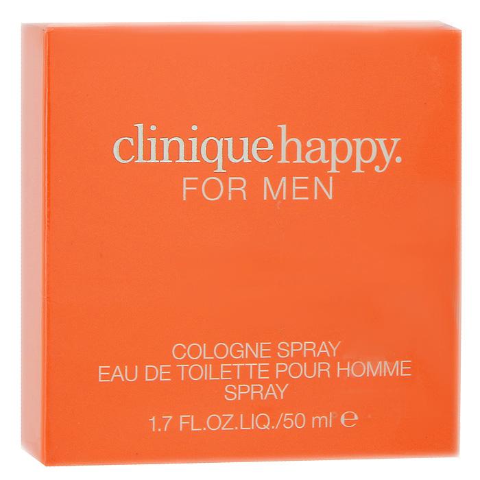 Clinique Happy For Men. Одеколон, 50 мл62YL010000Бывают такие моменты, когда счастье, переполняя вас, рвется наружу, стремясь заполнить все вокруг. Вам хочется всех любить и всем прощать, смеяться и танцевать. Этому состоянию души как нельзя лучше соответствует аромат Clinique Happy For Men, брызги которого орошают вас, подобно фейерверку чувств.Классификация аромата: ароматический.Верхние ноты: зеленые ноты, лайм, мандарин, морские ноты.Ноты сердца:ландыш, жасмин, роза, фрезия.Ноты шлейфа:кедровое дерево, дерево гайак, кипарис, мускус.Ключевые слова: Свежий, чувственный, гармоничный, харизматичный! Характеристики:Объем: 50 мл. Производитель: Швейцария. Товар сертифицирован.