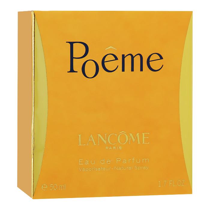 Lancome Парфюмерная вода Poeme, 50 мл04127Poeme - это песнь о любви и стихах от Lancome. Лирический аромат создан для прирожденных романтиков. Вопреки традиционному подходу к созданию композиции, парфюмер Жак Кавалье (Jacques Cavallier) создал Poeme, скомбинировав ноты гималайского голубого мака с травой, известной в народе под названием дурман. Этот аккорд в сочетании с букетом богатых цветов придает парфюму необычный, переменчивый характер.Классификация аромата: цветочный.Верхние ноты: черная смородина, мандарин, персик, бергамот.Ноты сердца:жасмин, фрезия, тубероза, цветок апельсина.Ноты шлейфа:амбра, ваниль, мускус, бобы тонка.Ключевые слова: Женственный, роскошный, тонкий, элегантный!Товар сертифицирован.Краткий гид по парфюмерии: виды, ноты, ароматы, советы по выбору. Статья OZON Гид