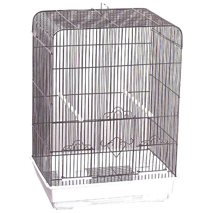 Клетка для птиц Triol, цвет: белый, стальной, 43 х 30,5 х 58 смK-7005Клетка для птиц Triol, выполненная из пластика и металла с эмалированным покрытием, предназначена для мелких птиц. Вы можете поселить в нее одну или две птицы.Изделие состоит из большого поддона и решетки. Клетка снабжена металлической дверцей и двумя окошками, которые открываются и закрываются движением вверх-вниз. В основании клетки находится малый выдвижной поддон с металлической решеткой сверху. Поддон удобно и легко чистить, так как он выдвигается из клетки, не беспокоя питомцев. Клетка также оснащена двумя кормушками и двумя жердочками. Комплектация: - клетка, - малый поддон с решеткой, - кормушка: 2 шт., - жердочка: 2 шт.Размер кормушки: 12 см х 9,3 см х 7 см. Длина жердочки: 30 см. Размер малого поддона: 36,5 см х 24,5 см х 2 см. Размер большого поддона: 42,5 см х 30 см х 9 см.Размер клетки: 43 см х 30,5 см х 58 см.