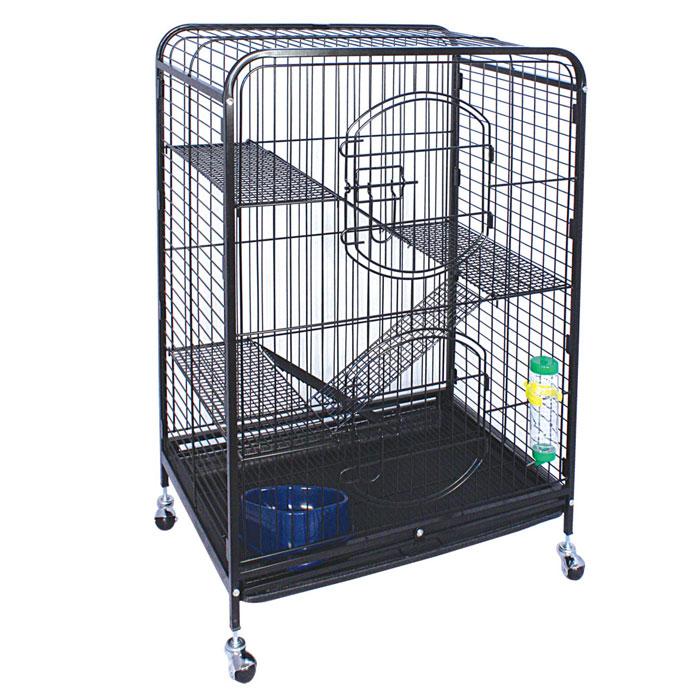 Клетка для мелких животных Triol, на колесиках, 64 см х 43,5 см х 92,5 см клетка triol n 1601цинк для птиц 34 5 26 44см