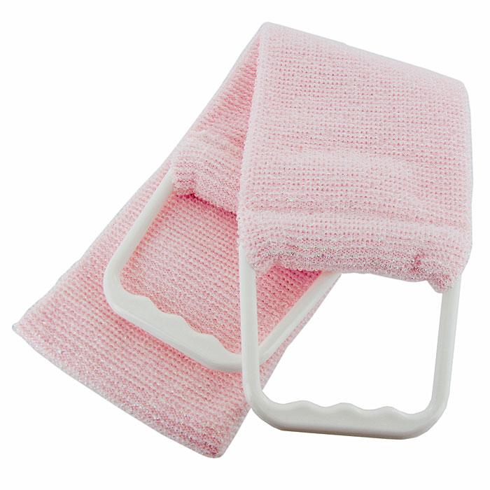 Мочалка-пояс Riffi, двухсторонняя. 927, цвет: бледно-розовый927Двухсторонняя мочалка-пояс Riffi применяется для мытья тела, отлично действует как пилинговое средство, тонизируя, массируя и эффективно очищая вашу кожу. Мягкой стороной хорошо намыливать тело и наносить косметические средства после душа. Жесткую (с люрексом) сторону пояса используют для легкого пилинга и массажа кожи. Для удобства применения пояс снабжен двумя пластиковыми ручками. Благодаря отшелушивающему эффекту мочалки-пояса, кожа освобождается от отмерших клеток, становится гладкой, упругой и свежей. Интенсивный и пощипывающе свежий массаж тела с применением Riffi стимулирует кровообращение, активирует кровоснабжение, способствует обмену веществ, что в свою очередь позволяет себя чувствовать бодрым и отдохнувшим после принятия душа или ванны. Riffi регенерирует кожу, делает ее приятно нежной, мягкой и лучше готовой к принятию косметических средств. Приносит приятное расслабление всему организму. Борется со спазмами и болями в мышцах, предупреждает образование целлюлита и обеспечивает омолаживающий эффект. Гипоаллергенная. Характеристики:Материал: 90% полиэстер, 10% полиамид, пластик. Общая длина пояса (с учетом ручек): 89,5 см. Ширина пояса: 11,5 см. Производитель: Германия. Артикул:927. Товар сертифицирован.