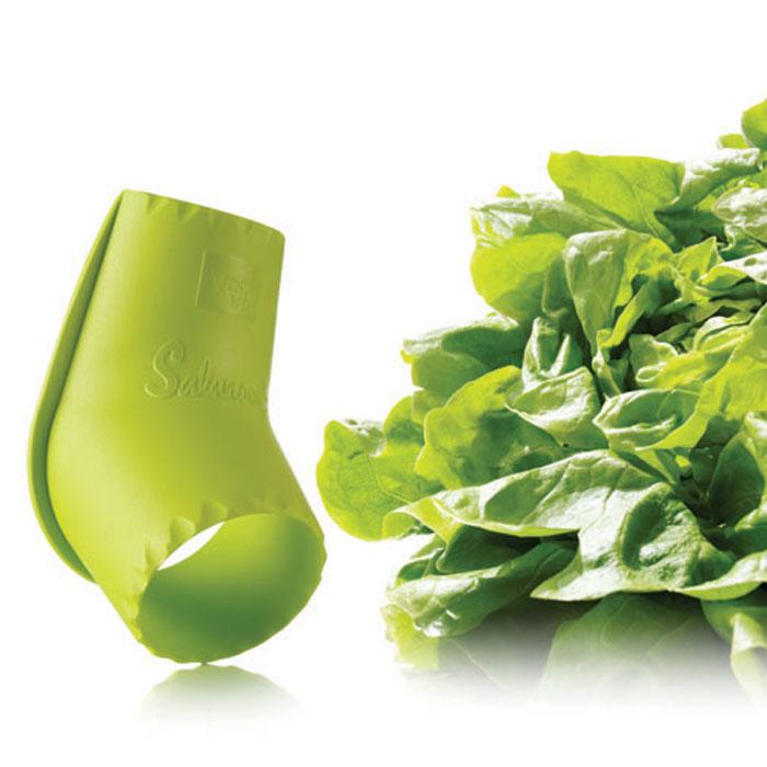 Устройство VacuVin Salad Cutter для разрезания салата, цвет: салатовый4754660Устройство VacuVin Salad Cutter, выполненное из пластика, всего за несколько секунд поможет вам отделить сердцевину от салата-латука, после чего вы сможете с легкостью использовать листья.Устройство легко отделяет салатные листья, оставляя меньше отходов. Просто поместите круглый конец ножа на сердцевину кочанного салата, и с усилием вкручивайте его по часовой стрелке, чтобы отделить сердцевину от листьев. Для срезания нескольких листьев поместите узкую часть ножа рядом с сердцевиной и надавите. Характеристики:Материал: пластик. Размер ножа: 11 см х 6 см х 6 см. Размер упаковки: 22 см х 13 см х 6 см. Производитель: Нидерланды. Артикул: 4754660.
