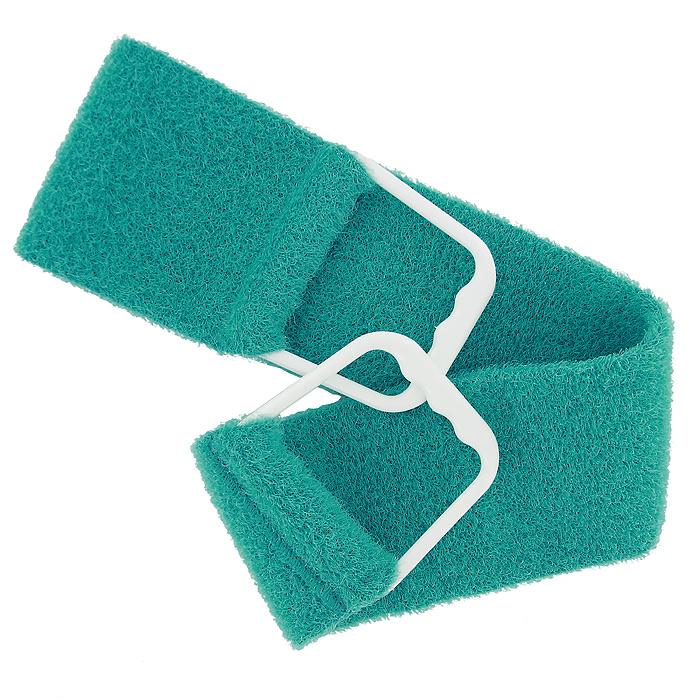 Riffi Мочалка-пояс, массажная, жесткая, цвет: бирюзовый