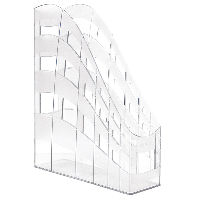 Подставка для бумаг Erich Krause  S-Wing , вертикальная, цвет: прозрачный - Лотки, подставки для бумаг