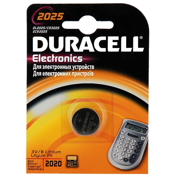 Батарейка литиевая Duracell. DL2025DRC-81469148Литиевая батарейка Duracell предназначена для использования в различных электронных устройствах, например калькуляторах. Выполнена из прочного металла.Уважаемые клиенты! Обращаем ваше внимание на возможные изменения в дизайне упаковки. Качественные характеристики товара остаются неизменными. Поставка осуществляется в зависимости от наличия на складе.