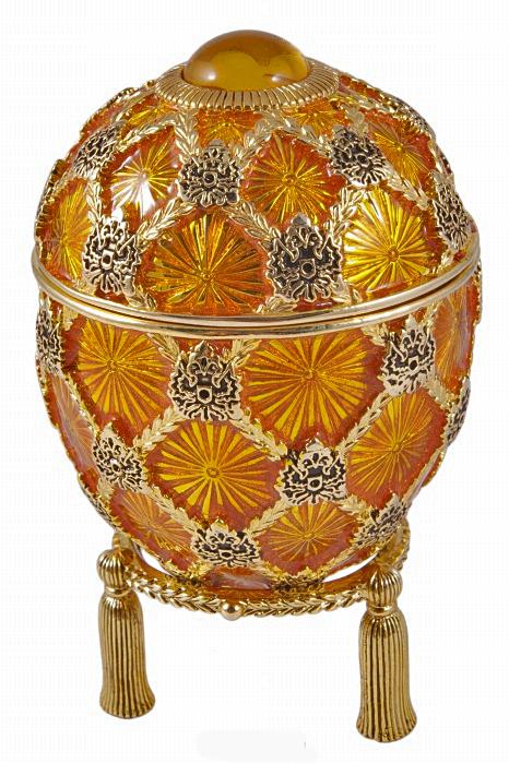 "Яйцо-шкатулка ""Коронационное"". Металл, эмаль, позолота, австрийские кристаллы, Joan Rivers. Конец XX века"