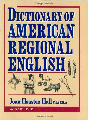Dictionary of American Regional English V 4 english dictionary