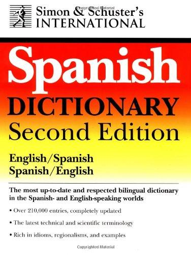 Simon & Schuster's International English/Spanish Spanish/English Dictionary mastering english prepositions