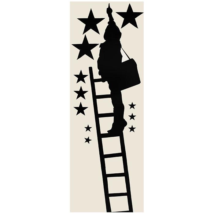Стикер Paristic Ребенок в звездах, цвет: черный, 100 см х 45 смПР00171Стикер Paristic Ребенок в звездах выполнен из матового винила - тонкого эластичного материала, который хорошо прилегает к любым гладким и чистым поверхностям, легко моется и держится до семи лет, не оставляя следов. Добавьте оригинальность вашему интерьеру с помощью необычного стикера Ребенок в звездах. На стикере изображен силуэт ребенка, стоящего на лестнице и указывающего на звезды.Необыкновенный всплеск эмоций в дизайнерском решении создаст утонченную и изысканную атмосферу не только спальни, гостиной или детской комнаты, но и даже офиса. Сегодня виниловые наклейки пользуются большой популярностью среди декораторов по всему миру, а на российском рынке товаров для декорирования интерьеров - являются новинкой. Характеристики: Материал:винил. Размер стикера (В х Ш): 100 см х 45 см. Цвет:черный. Производитель: Франция. Комплектация: виниловый стикер; инструкция. Paristic - это стикеры высокого качества. Художественно выполненные стикеры, создающие эффект обмана зрения, дают необычную возможность использовать в своем интерьере элементы городского пейзажа. Продукция представлена широким ассортиментом - в зависимости от формы выбранного рисунка и от ваших предпочтений стикеры могут иметь разный размер и разный цвет (12 вариантов помимо классического черного и белого). В коллекции Paristic - авторские работы от урбанистических зарисовок и узнаваемых парижских мотивов до природных и графических объектов. Идеи французских дизайнеров украсят любой интерьер: Paristic - это простой и оригинальный способ создать уникальную атмосферу как в современной гостиной и детской комнате, так и в офисе. В настоящее время производство стикеров Paristic ведется в России при строгом соблюдении качества продукции и по оригинальному французскому дизайну.