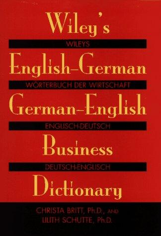 Wiley's English–German, German–English Business Dictionary new eli picture dictionary cd rom german