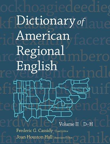 Dictionary of American Regional English V 2 english dictionary