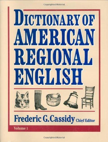 Dictionary of American Regional English V 1 english dictionary