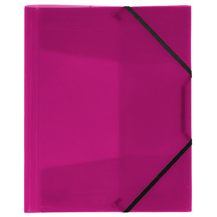 Папка на резинке Erich Krause Diagonal, цвет: розовый14392Папка Erich Krause Diagonal с тремя клапанами - удобный и практичный офисный инструмент, предназначенный для хранения и транспортировки рабочих бумаг и документов формата А4. Папка изготовлена из полупрозрачного глянцевого пластикасрифленой поверхностью и закрывается при помощи угловых резинок. Согнув клапаны по линии биговки, можно легко увеличить объем папки, что позволит вместить большее количество документов. С такой папкой ваши документы всегда будут в полном порядке! Характеристики:Материал: пластик, текстиль. Цвет: розовый. Размер папки: 32 см х 22,5 см x 3,5 см. Изготовитель: Китай.