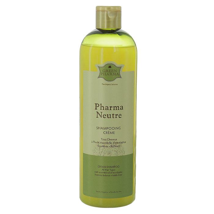 """Шампунь-крем Greenpharma """"Pharma Neutre"""" с экстрактами растений, для нормальных волос, 500 мл"""