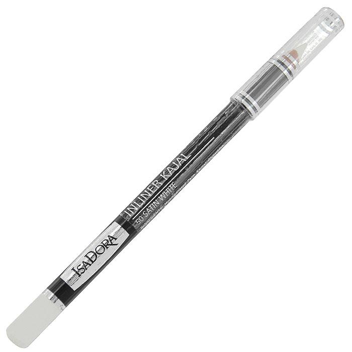 Контурный карандаш для глаз Isa Dora Inliner Kajal, тон №50, цвет: сатиновый белый, 1,3 г113850Контурный карандаш для глаз Isa Dora Inliner Kajal обладает специальной мягкой формулой, которая обеспечивает легкое точное нанесение. Карандаш легко растушевывается, стойкий и влагоустойчивый. Характеристики: Вес: 1,3 г. Тон: №50 (сатиновый белый). Длина карандаша: 12 см. Производитель: Швеция. Артикул:1138. Товар сертифицирован.