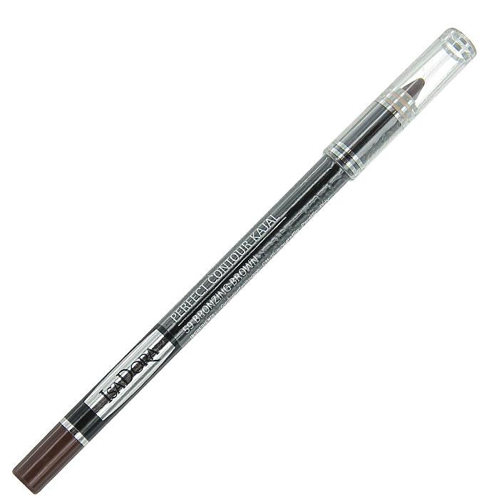 Контурный карандаш для глаз Isa Dora Perfect Contour Kajal, тон №59, цвет: коричневый бронзовый, 1,2 г компактная пудра isa dora ultra cover тон 21 цвет бежевый камуфляж 10 г