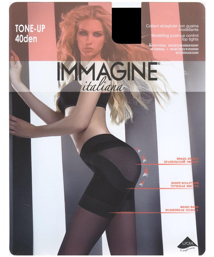 Колготки Immagine Tone Up 40, цвет: черный (Nero). Размер 3