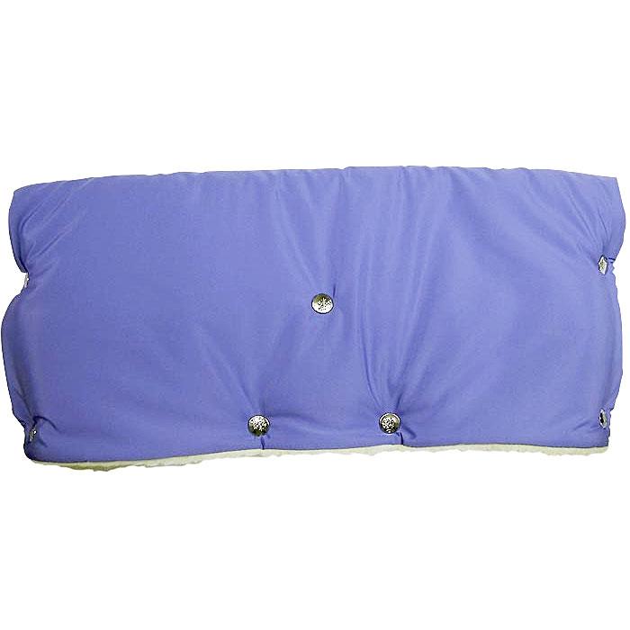 Муфта для рук на коляску  Чудо-Чадо , меховая, цвет: голубой - Коляски и аксессуары