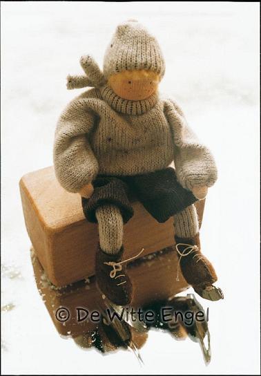 Набор для изготовления вальдорфской игрушки  Маленький фигурист , 12 см - Игрушки своими руками