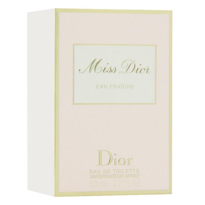 Christian Dior Miss Dior Eau Fraiche. Туалетная вода, 50 мл952230Christian Dior Miss Dior Eau Fraiche - женственный и чувственный, свежий и зеленый, шипрово-цветочный аромат. Глубокий и чувственный и в то же время кокетливый характер с бодрящим звуком солнечной весны. Этот аромат дополнил многообразие исключительных образов парижанки Miss Dior. В нем смешались легкость и элегантность.Классификация аромата: шипровый, цветочный.Верхние ноты: цитрусовые, гальбаниум.Ноты сердца: жасмин.Ноты шлейфа: бергамот, гардения, пачули.Ключевые словаСвежий, чувственный, легкий, элегантный! Характеристики:Объем: 50 мл. Производитель: Франция. Туалетная вода - один из самых популярных видов парфюмерной продукции. Туалетная вода содержит 4-10%парфюмерного экстракта. Главные достоинства данного типа продукции заключаются в доступной цене, разнообразии форматов (как правило, 30, 50, 75, 100 мл), удобстве использования (чаще всего - спрей). Идеальна для дневного использования. Товар сертифицирован.