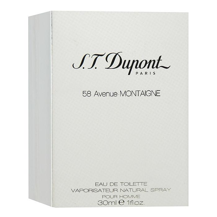 S.T. Dupont Туалетная вода 58 Avenue Montaigne Homme, 30 мл туалетная вода s t dupont 58 avenue montaigne homme