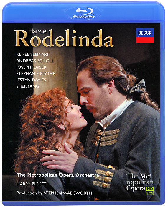 Star soprano Renee Fleming and countertenor Andreas Schotl star in Stephen Wadsworth's productionof this classical tale of a queen (Rodelinda) separated from, then finally reunited with, her adoredhusband (Bertarido).This acclaimed Metropolitan Opera production - updated to Handel's eighteenth-century Milan - has been brought back by popular demand once again for Ms. Fleming, who appears in the virtuoso title role - a part that features no fewer than eight solo arias.