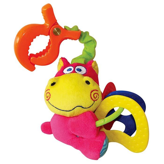 Мягкая игрушка-подвеска Бегемотик вибрирующая игрушка мир детства бегемотик
