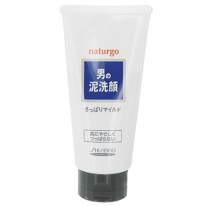 Пенка Shiseido Naturgo для умывания лица, для мужчин, с натуральной глиной, 130 г пенка для умывания с антибактериальным эффектом skinlife 130 г