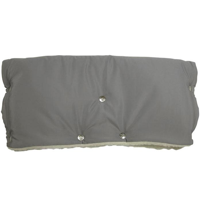 Муфта для рук на коляску  Чудо-Чадо , меховая, цвет: серый - Коляски и аксессуары